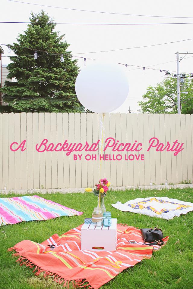 A Backyard Picnic Party
