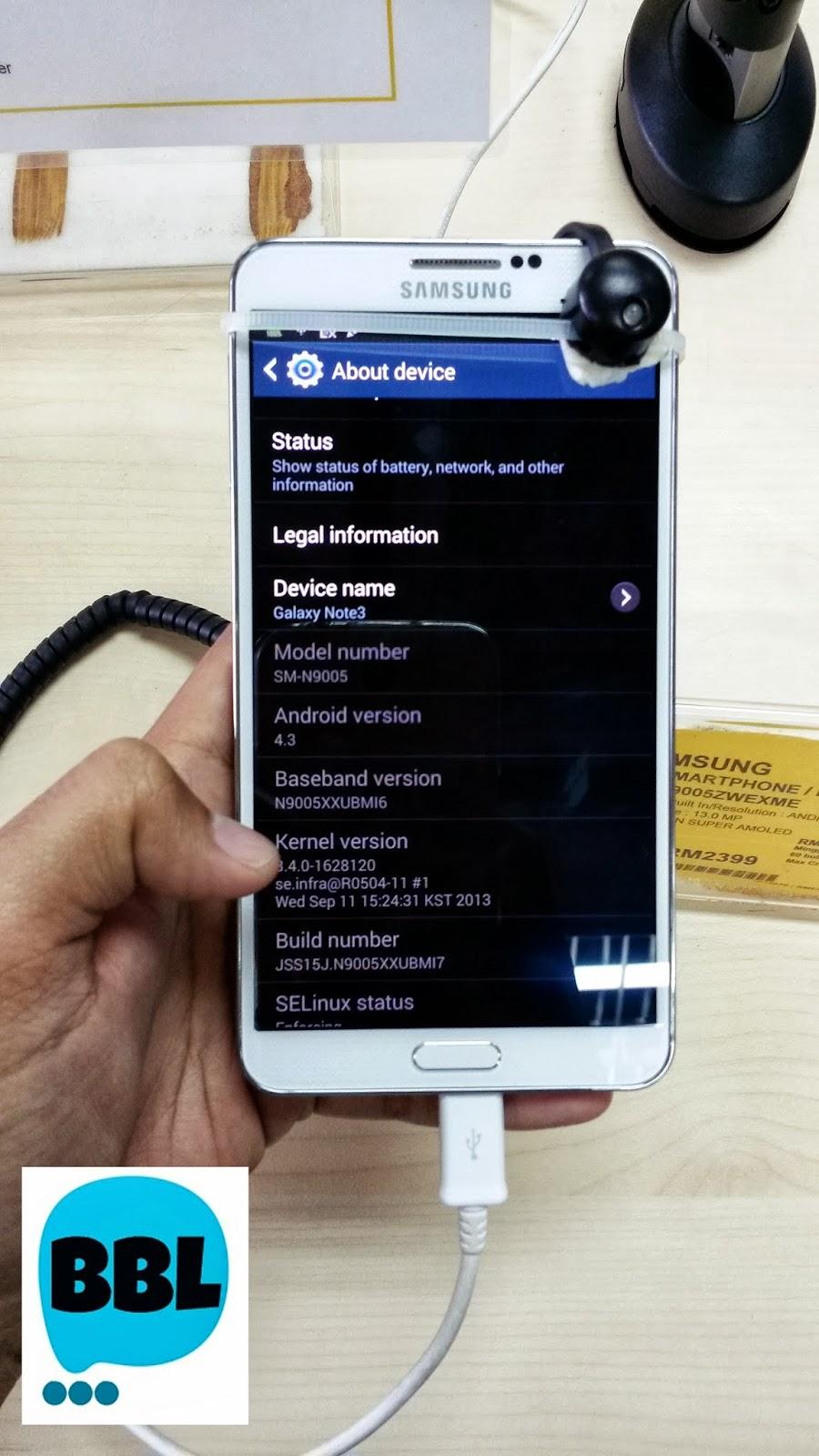 Review Samsung Galaxy Note 3 Edisi Tengok Sahaja