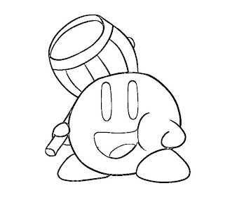 #6 Kirby Coloring Page