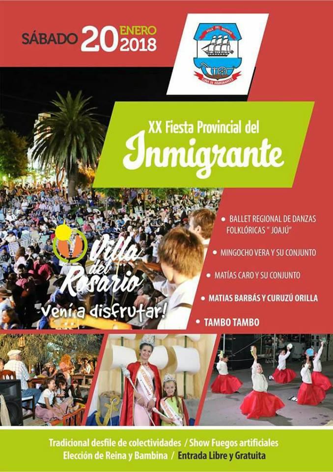 Fiesta del Inmigrante en Villa del Rosario Entre Rios