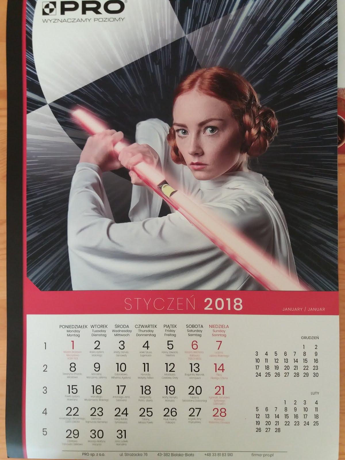 Kartka z kalendarza - styczeń