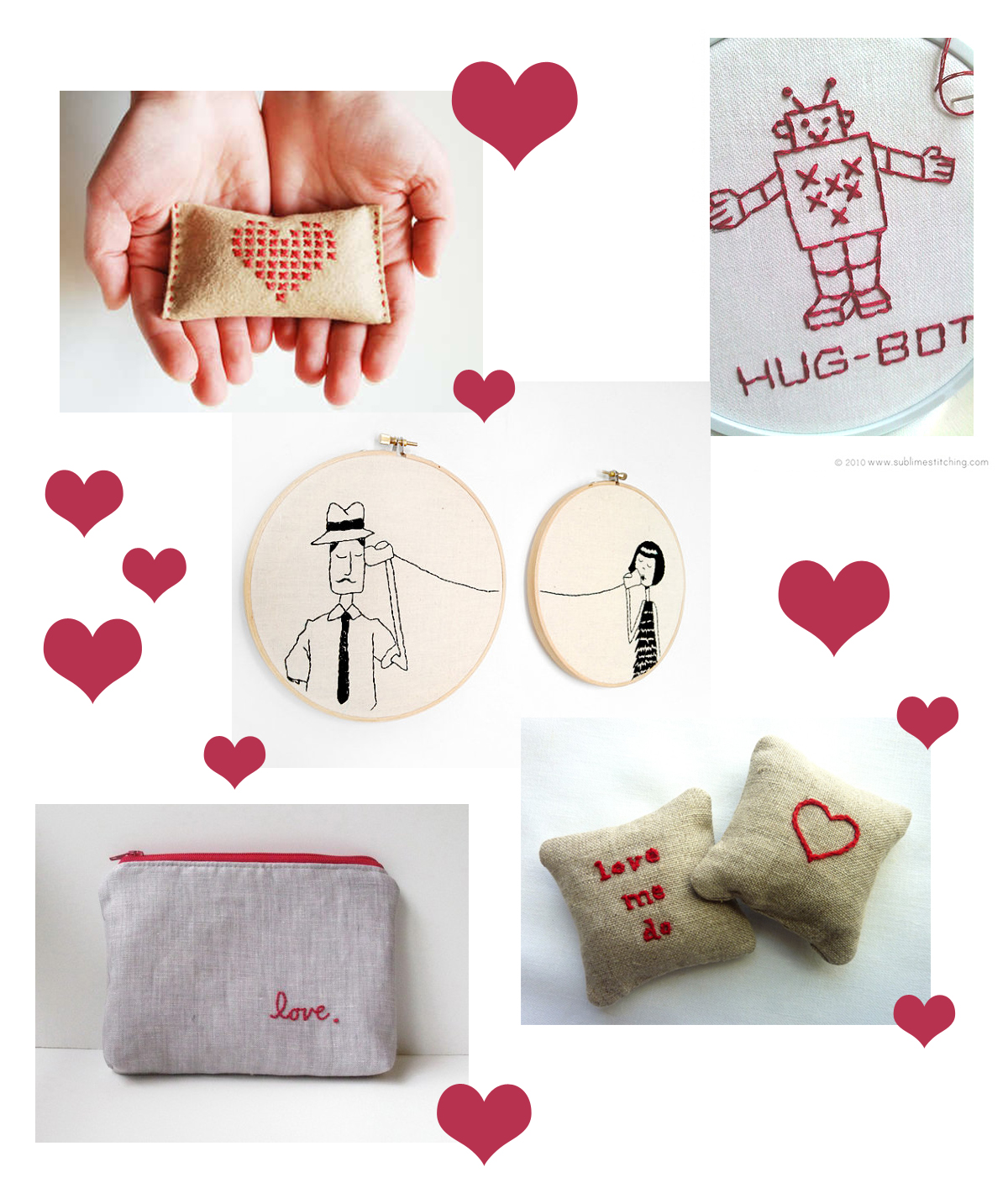 Simply Fun Stuff Simple Embroidery Ideas For Valentine S Day