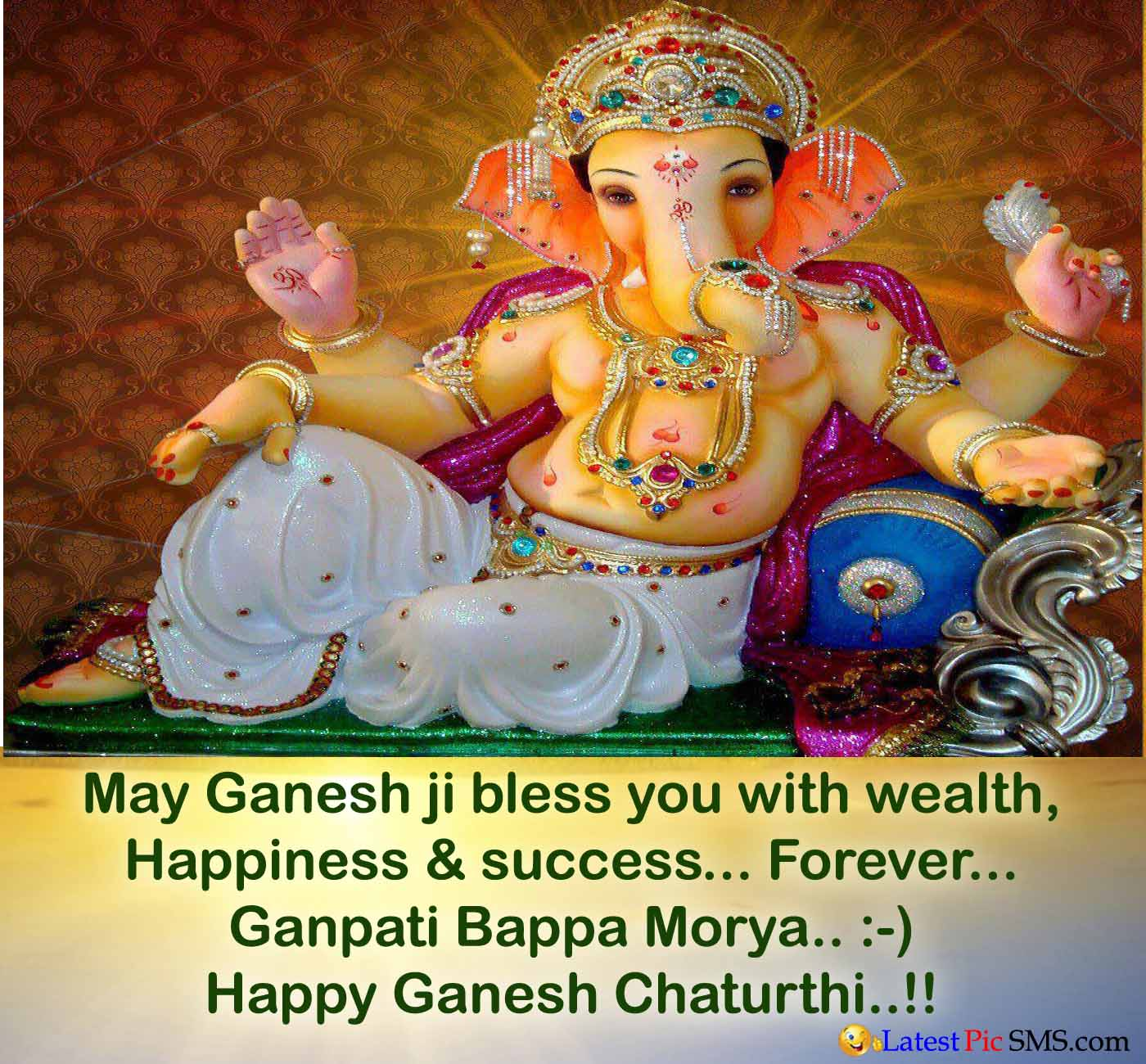 Happy ganesh chaturthi Greetings Image Quotes