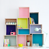 | Clever organising idea: DIY box shelves