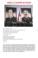SOBRE LA CUESTIN DE STALIN