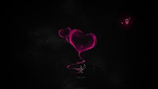 Abstract Love Black Minimalistic Lamps Magic HD Wallpaper