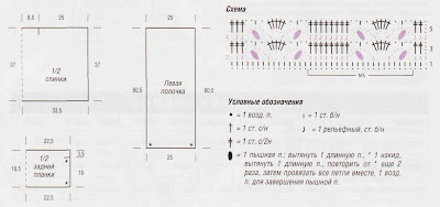 http://www.vyazemsami.ru// Схема вязания топа с запахом