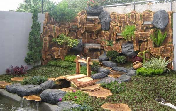gambar taman rumah kolam minimalis