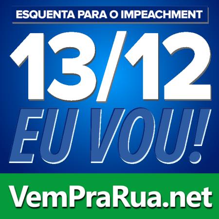 protesto vem pra rua Brasil azul impeachment Dilma 13-12