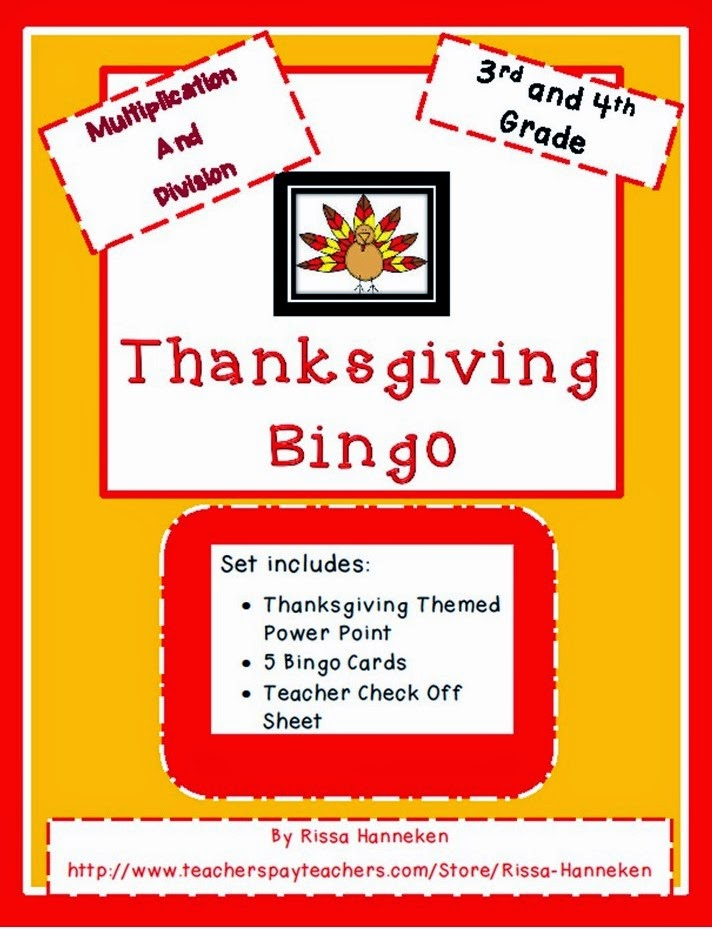 I\'m Dreaming of Turkey, Stuffing, and Bingo? - Pre-Holiday Math ...