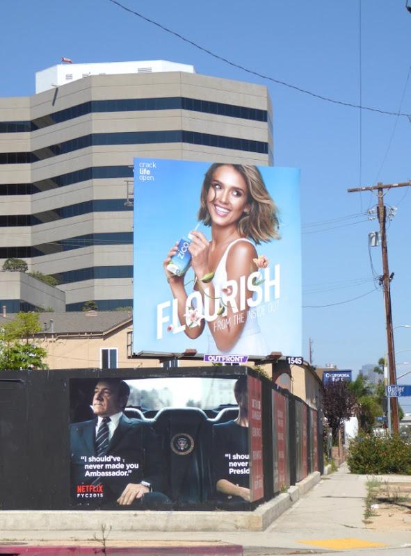 Jessica Alba Zico Flourish billboard