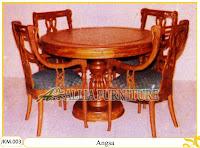 Kursi dan Meja Makan Ukiran Kayu Jati Angsa