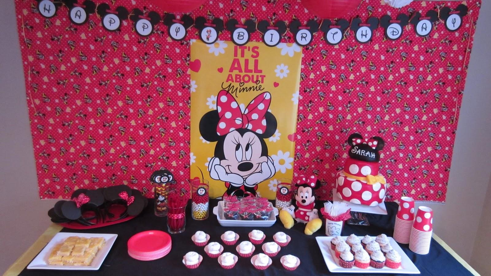 Sarahs Minnie Mouse Birthday Party