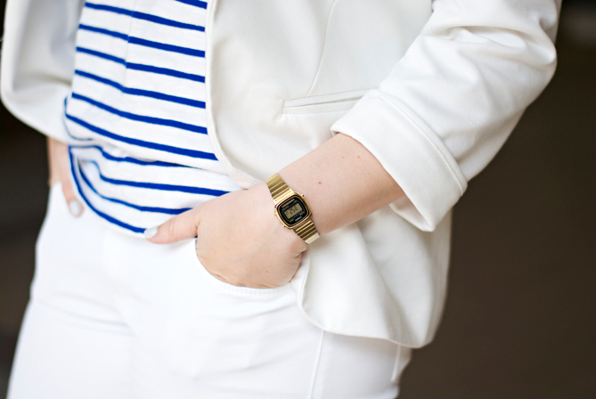 golden casio summer outfit