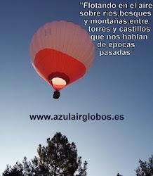 En la comarca de Las Merindades tambien podemos disfrutar de un viaje en Globo aeroestatico