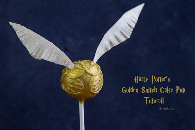 Learn how to make Harry Potter's Golden Snitch Cake Pops. They are easier than you think! Full tutorial at Pint Sized Baker.