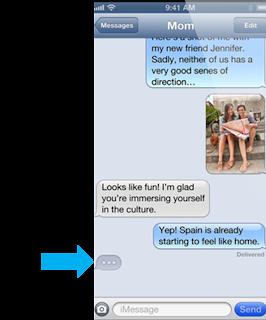 iMessage como Chat activo