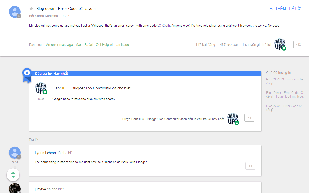 Lỗi blogger / blogspot sập: Error Code bX-v2vqfh