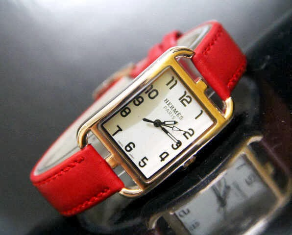 Jam Tangan Hermes 9809 Leather Merah