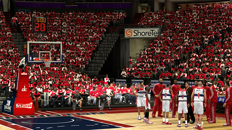 NBA 2K14 Washington Wizards Playoffs Crowd Patch
