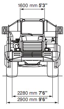 HM300-1 Articulated Dump Truck Dimension