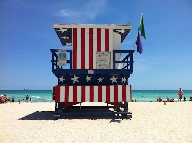Salva vidas em Miami Beach