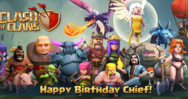 Happy Birthday Clash of Clans!