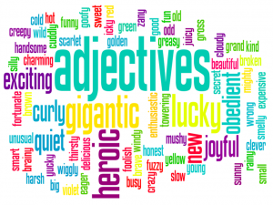 Adjective word bubble