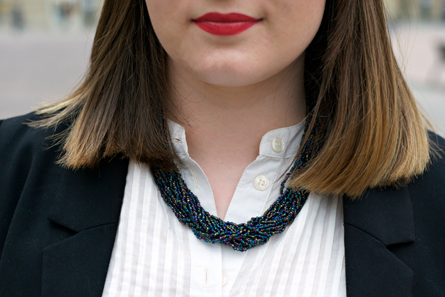 multichain statement necklace ootd