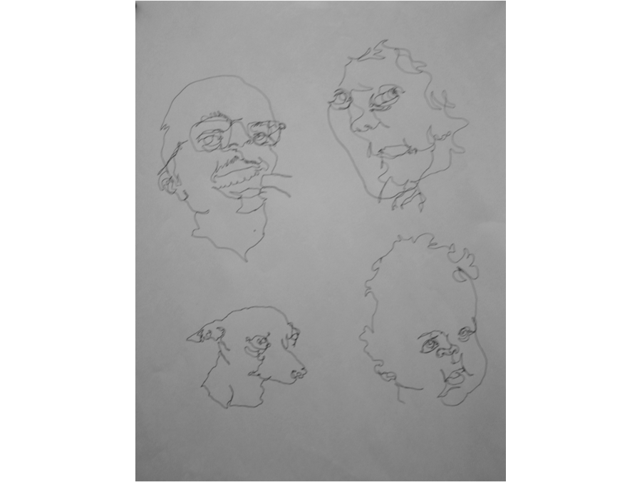 Blind Contour Line Drawing Definition : Drawing composition contour and blind