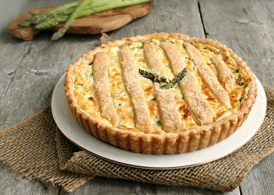 Asparagus and Goat Cheese Tart (with Flaky Cream Cheese Pastry)