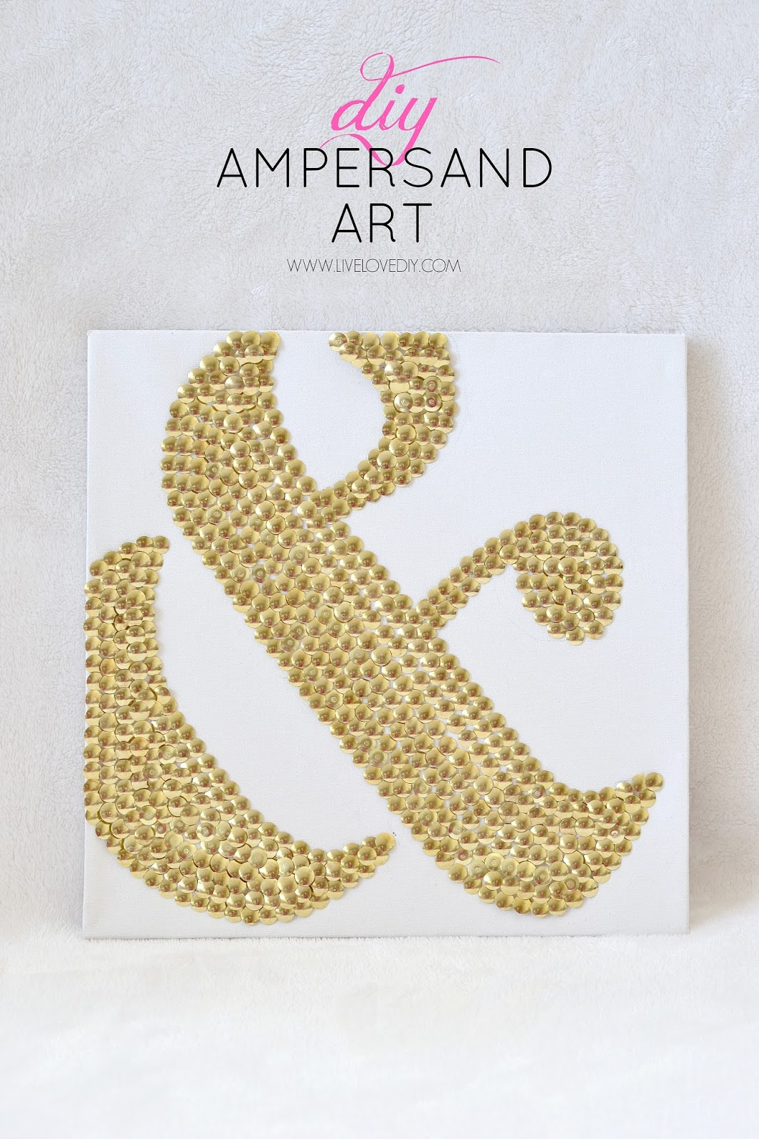 LiveLoveDIY: How To Make DIY Ampersand Art Using Thumbtacks