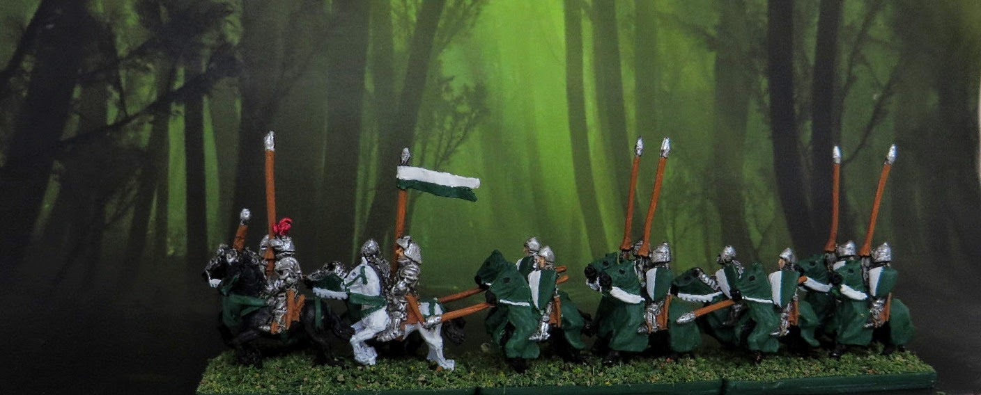 Kallistra, 10mm, 12mm, Warmaster, medieval, Games Workshop, Painted, Cavalry, 100 YW, Men-at-Arms