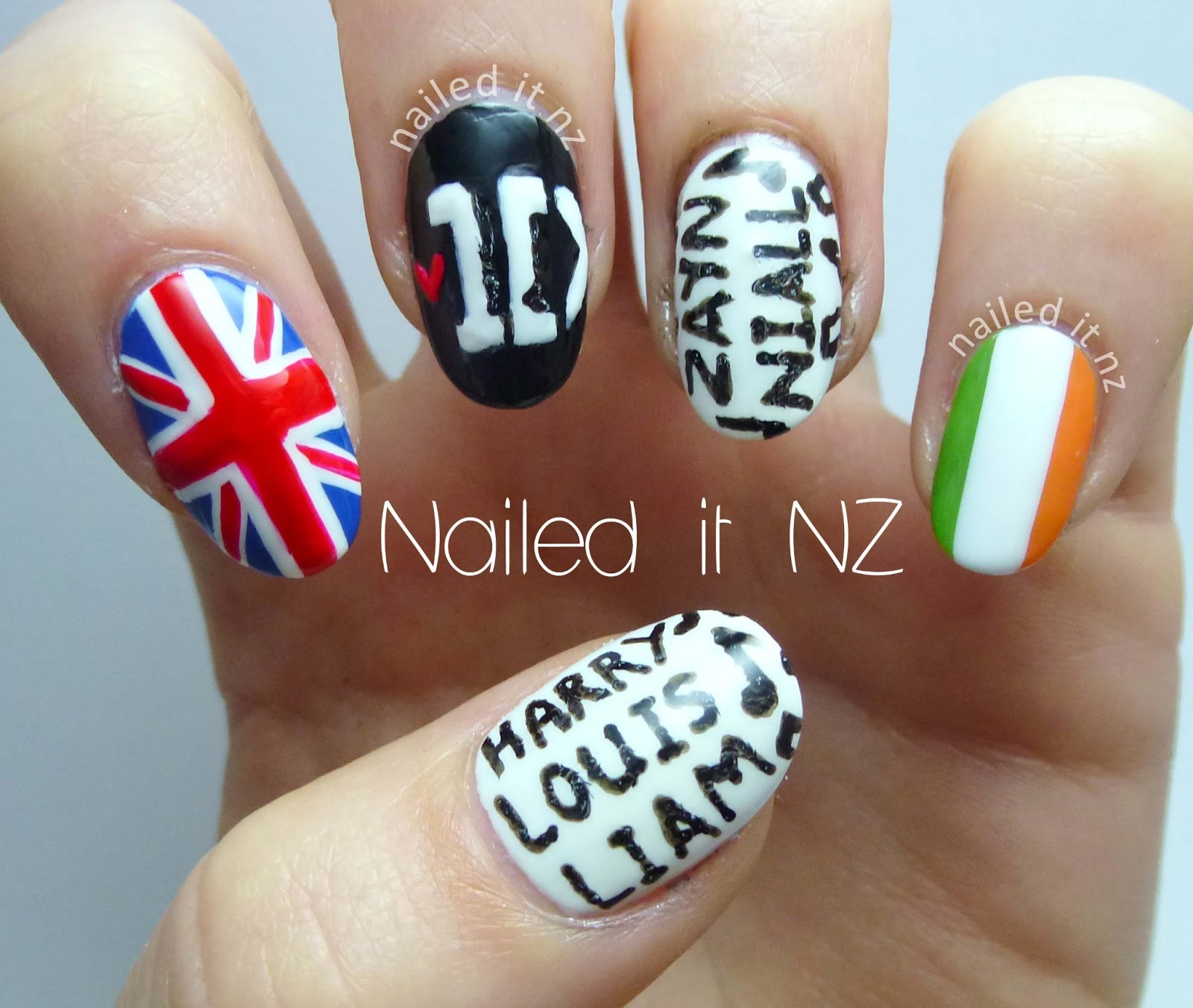 One Direction Nail Art Finally