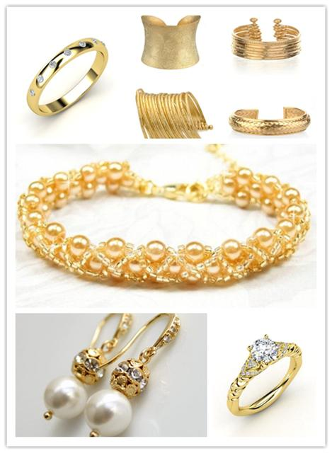 gold wedding jewelry