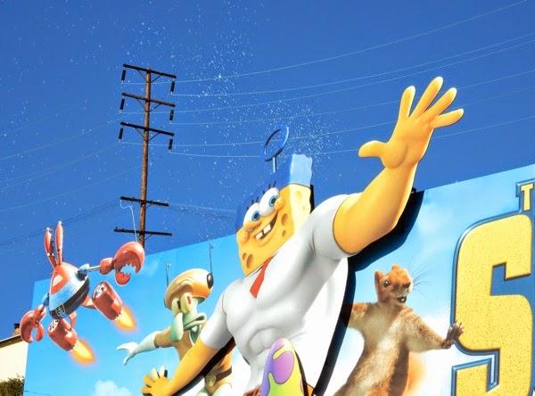 SpongeBob Movie special bubbles billboard