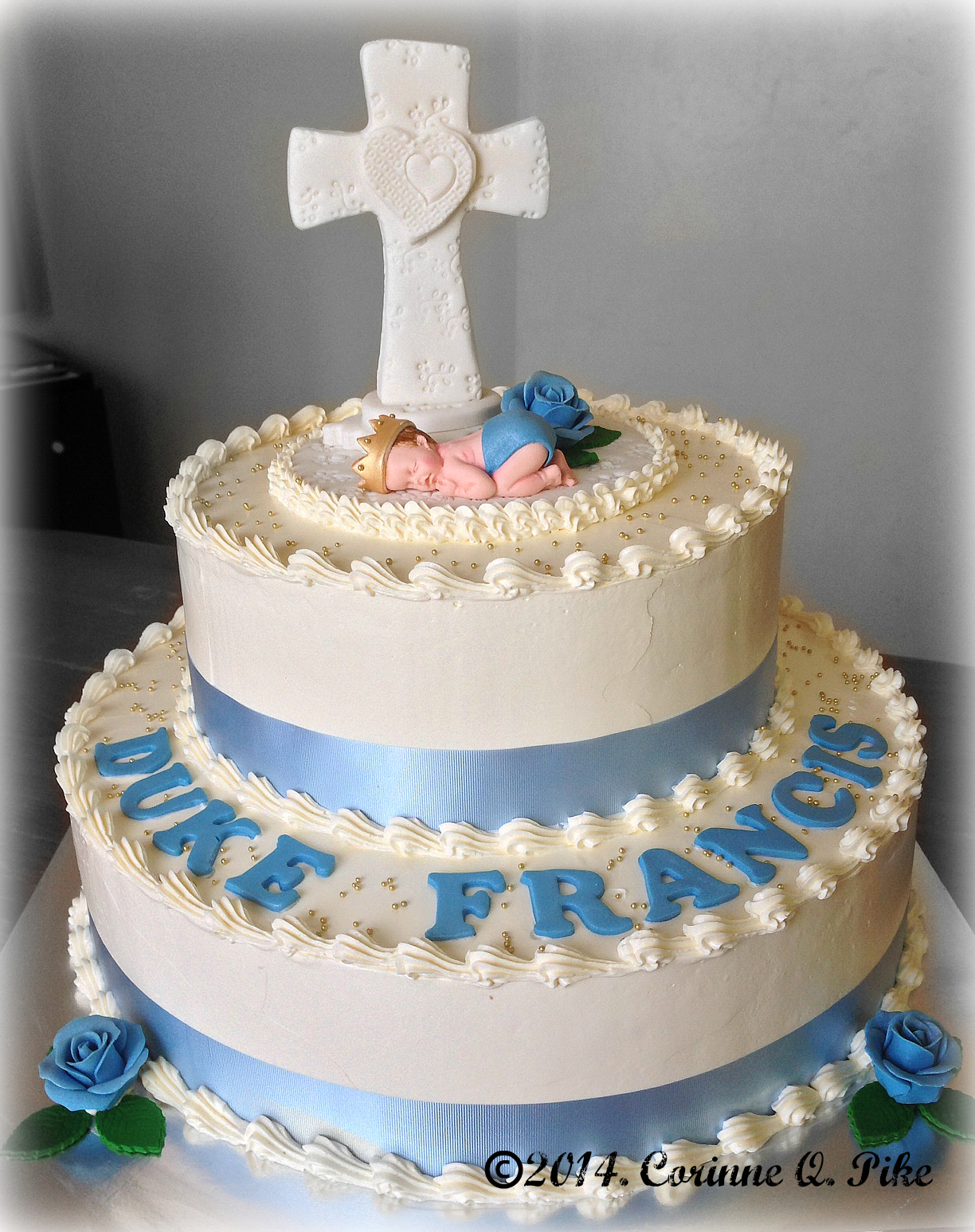 Baby Girl Christening Cake Designs