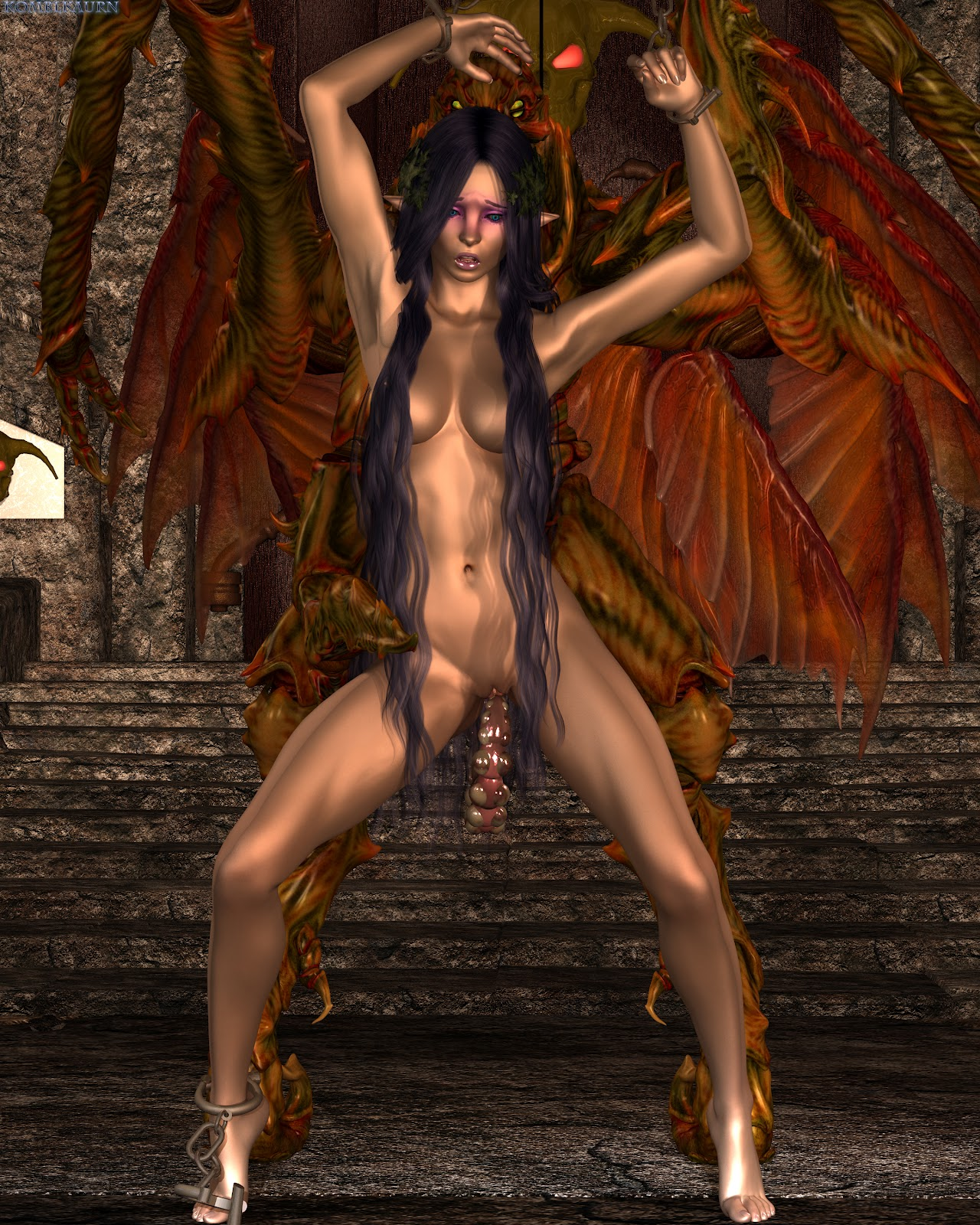 Naked hot girl demon hentia picture