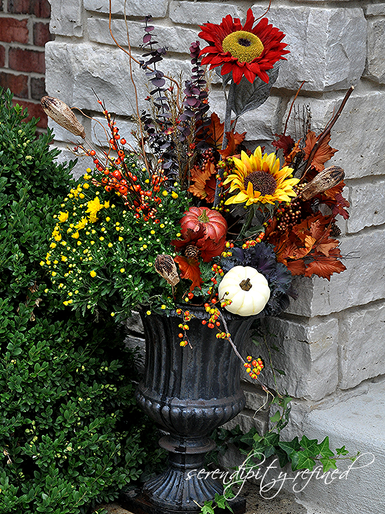 Christmas decor on pinterest christmas urns outdoor christmas - Serendipity Refined Blog Fall Planters And Urns What I