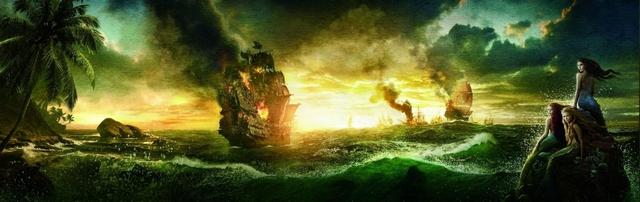 Pirati dei Caraibi: oltre i confini del mare - sirene e velieri