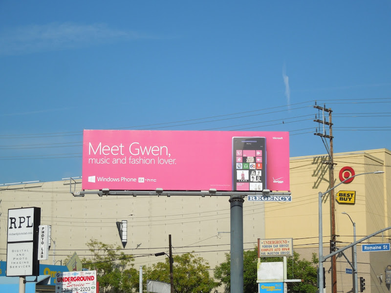 Meet Gwen Windows Phone billboard