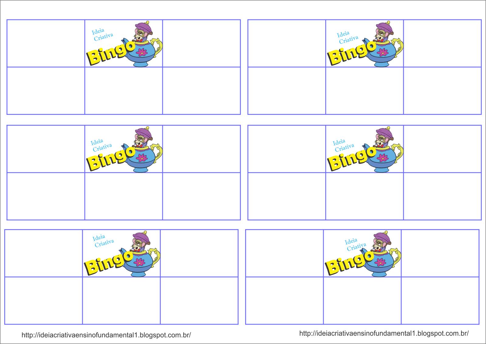 Bingo Ortográfico Alice no País das Maravilhas com Cartelas para Imprimir Gráti