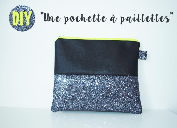 DIY pochette zippée à paillettes glitter