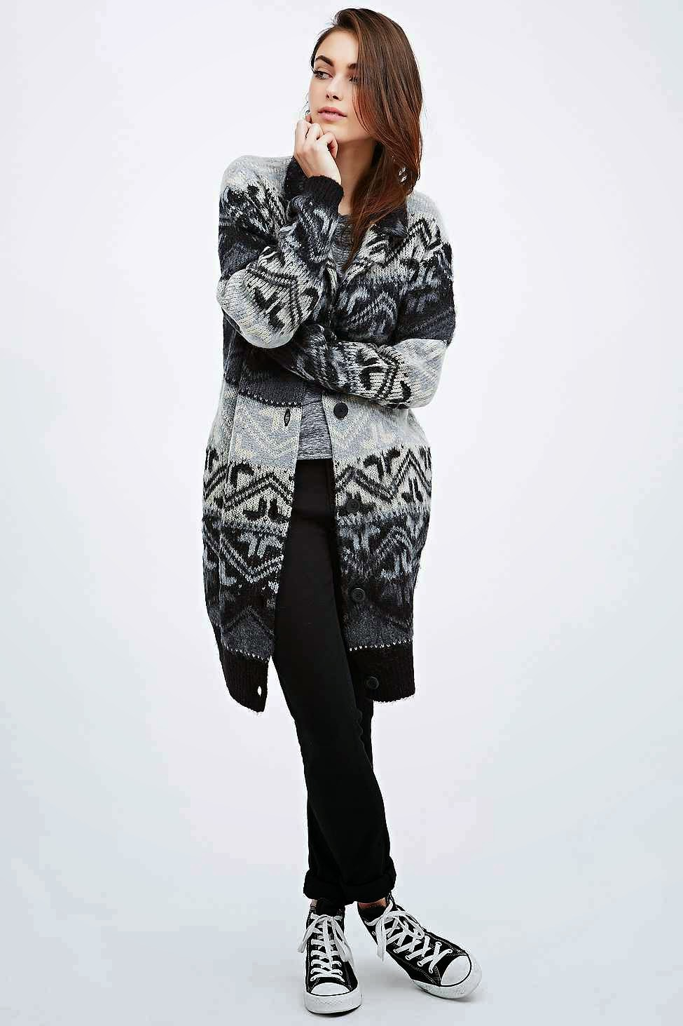 fairisle cardigan, urban outfitters coatigan,