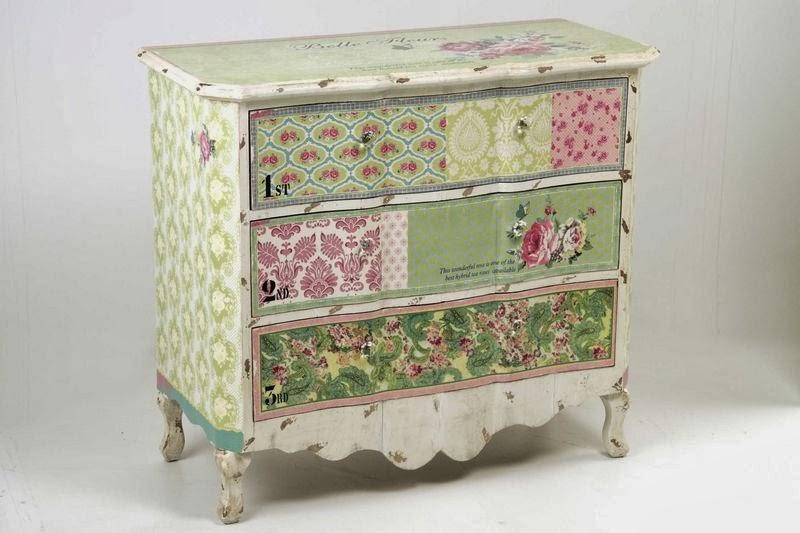 La web de la decoracion y el mueble en la red c modas decoradas con papel - Comodas pintadas ...