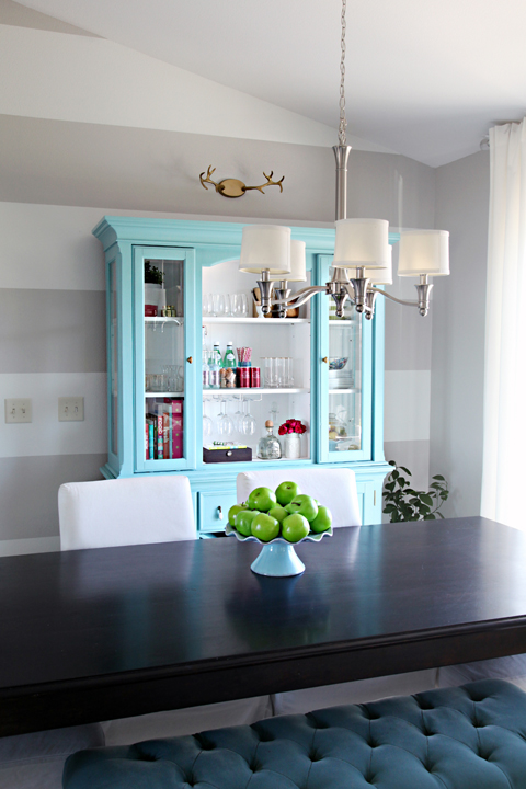 iheart organizing: our new-to-us painted dining room hutch - the