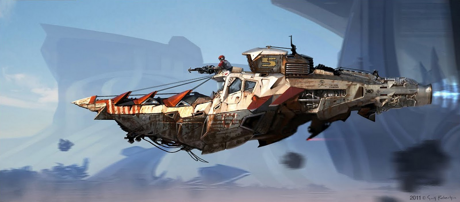 Jumping June Bugs! :: June BoB Bombing Run  - Page 3 Steampunk+concept+art+space+ship+cruiser+hyper+jet+scott+robertson+blast+2