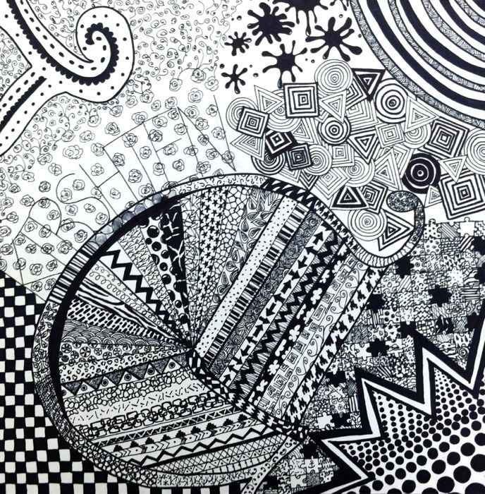 Drawing Using Lines And Shapes : The ib art studio pre line shape pattern