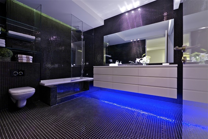 Black bathroom  World of Architecture One Of The Best Penthouses For Sale  Ever. Best Bathroom In The World