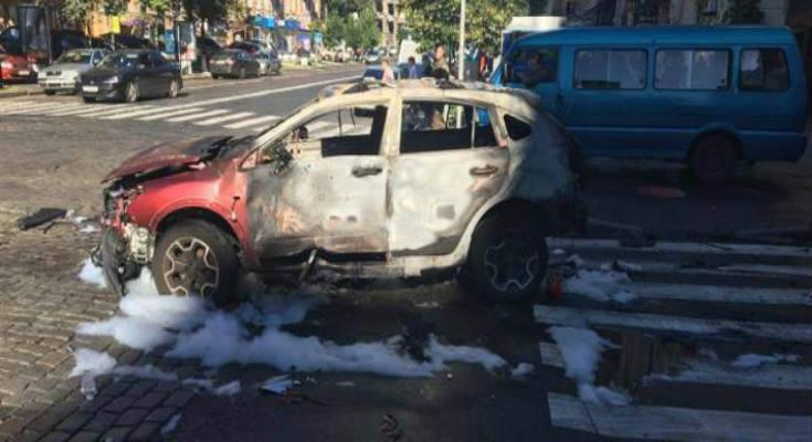 Βίντεο-ντοκουμέντο από την ανατίναξη οχήματος Ουκρανού δημοσιογράφου